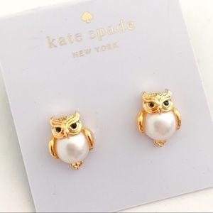 Kate spade pearl owl earrings